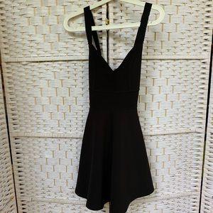 Urban Outfitters Black Cross-Back Skater Dress